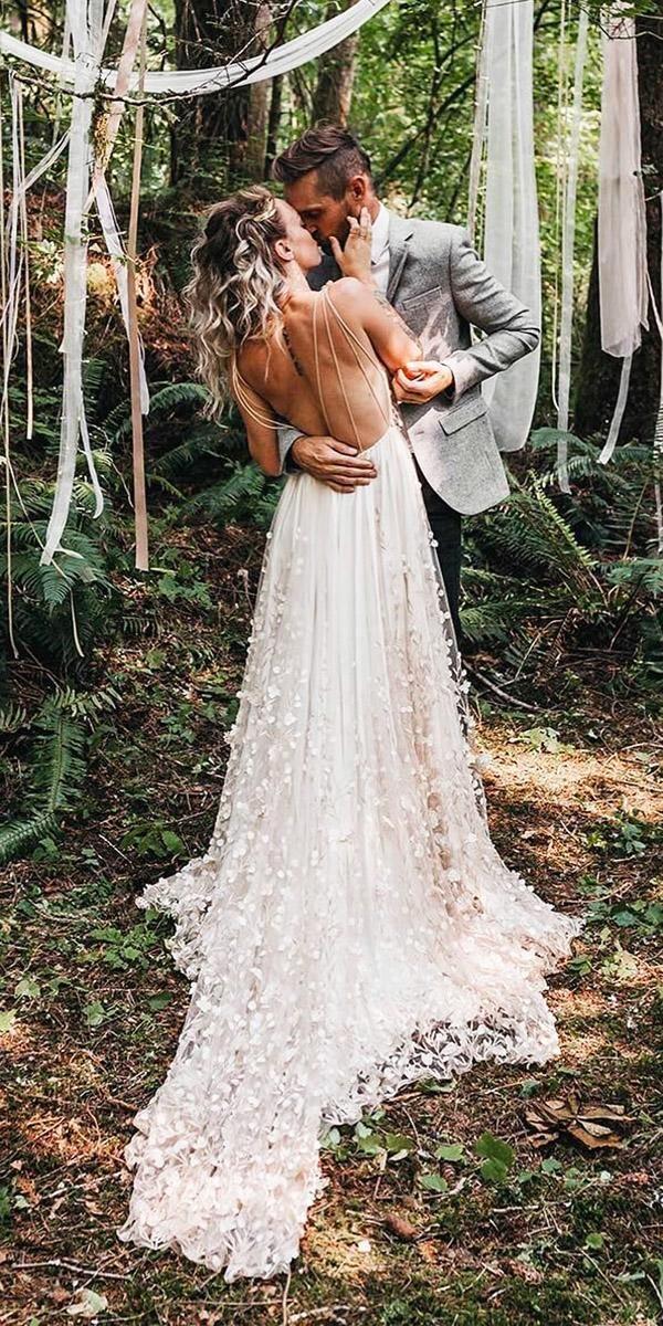Backless Boho Wedding Dresses