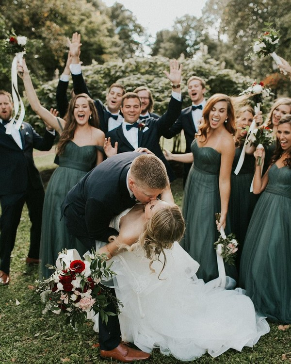 5 Green Wedding Decorations That Will Leave You Speechless: 20 Hunter Emerald Green Bridesmaid Dresses