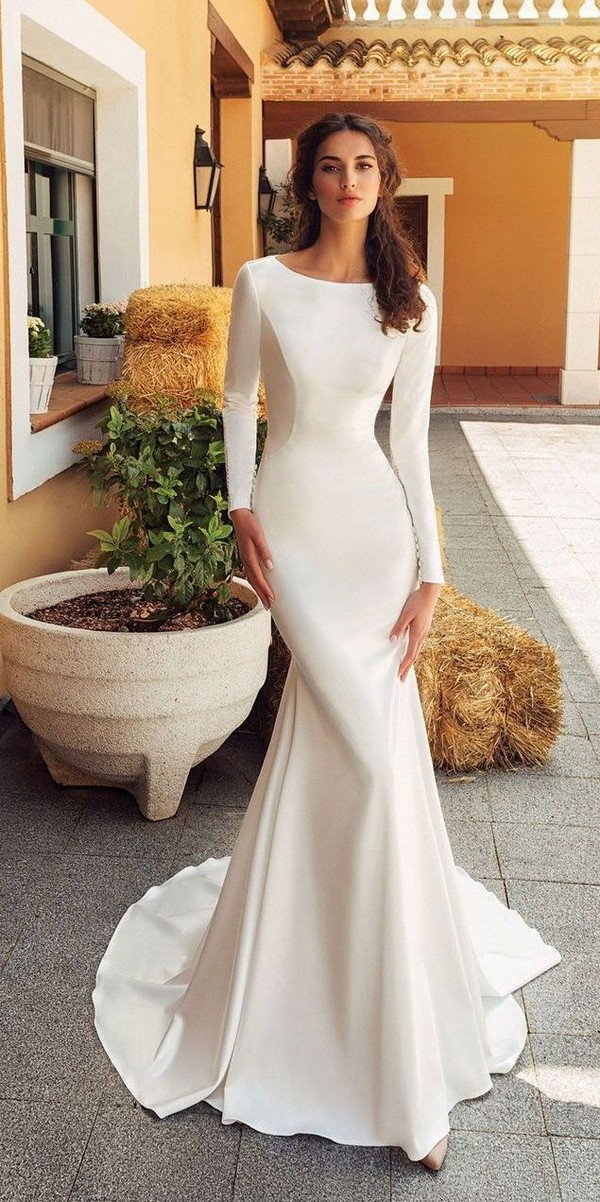 Elegant Long Sleeves Wedding Dresses