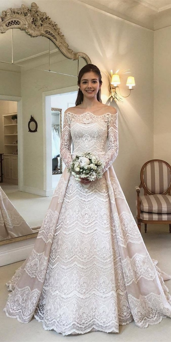Long Sleeves Lace Boho Wedding Dresses - wanda_borges