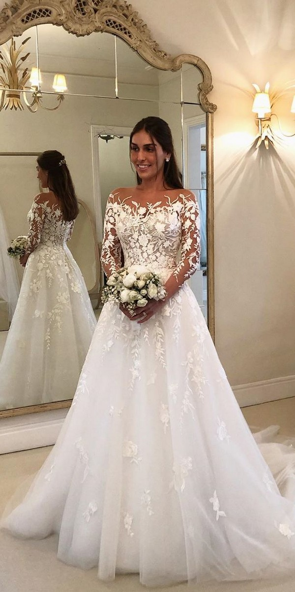Long Sleeves Lace Off the Should Wedding Dresses - wanda_borges2