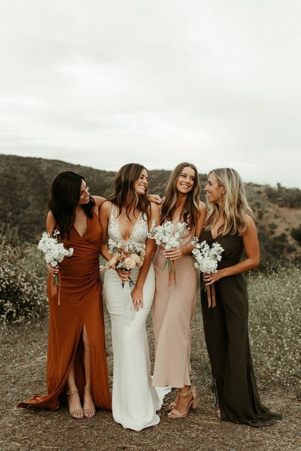 Mix and match bridesmaid dress for fall