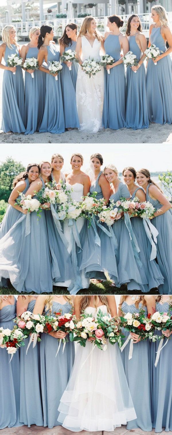 dusty blue bridesmaid dress ideas