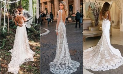 lace open back wedding dresses