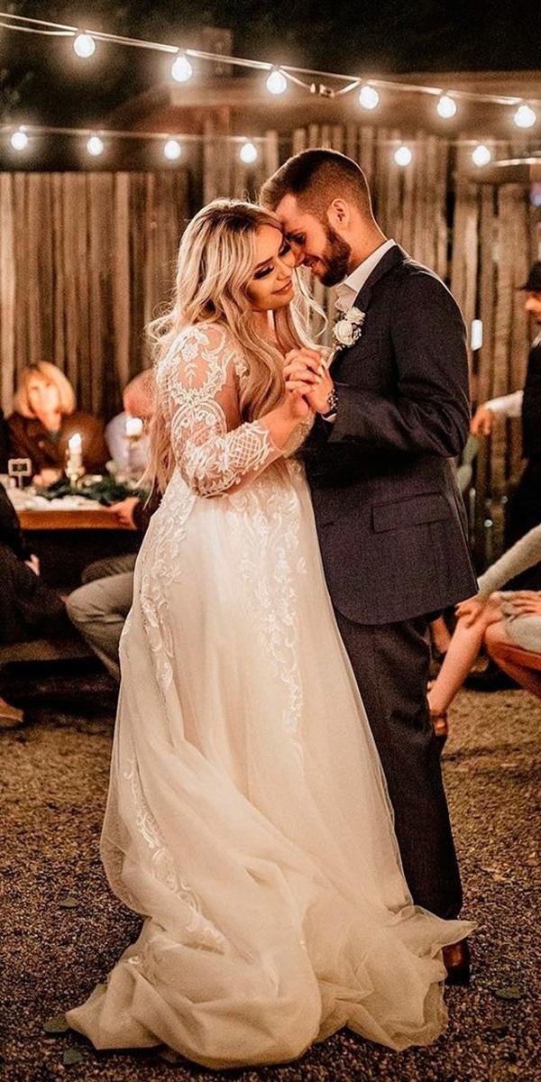 plus size wedding dresses vintage a line with long sleeves lace chris and ruth photography
