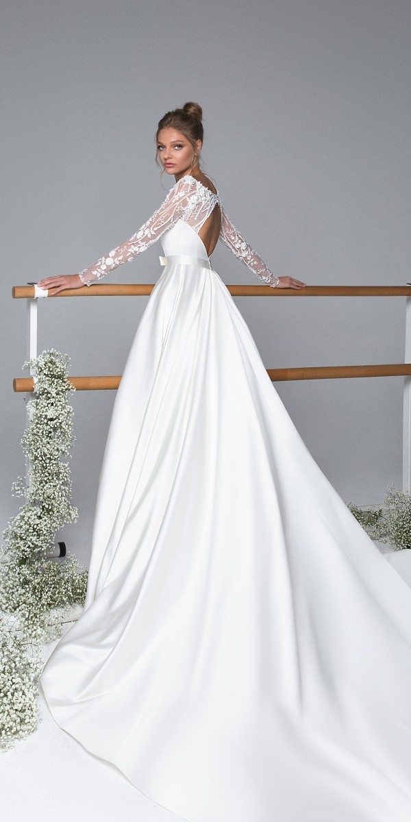 Eva Lendel elegant simple wedding dresses alexis