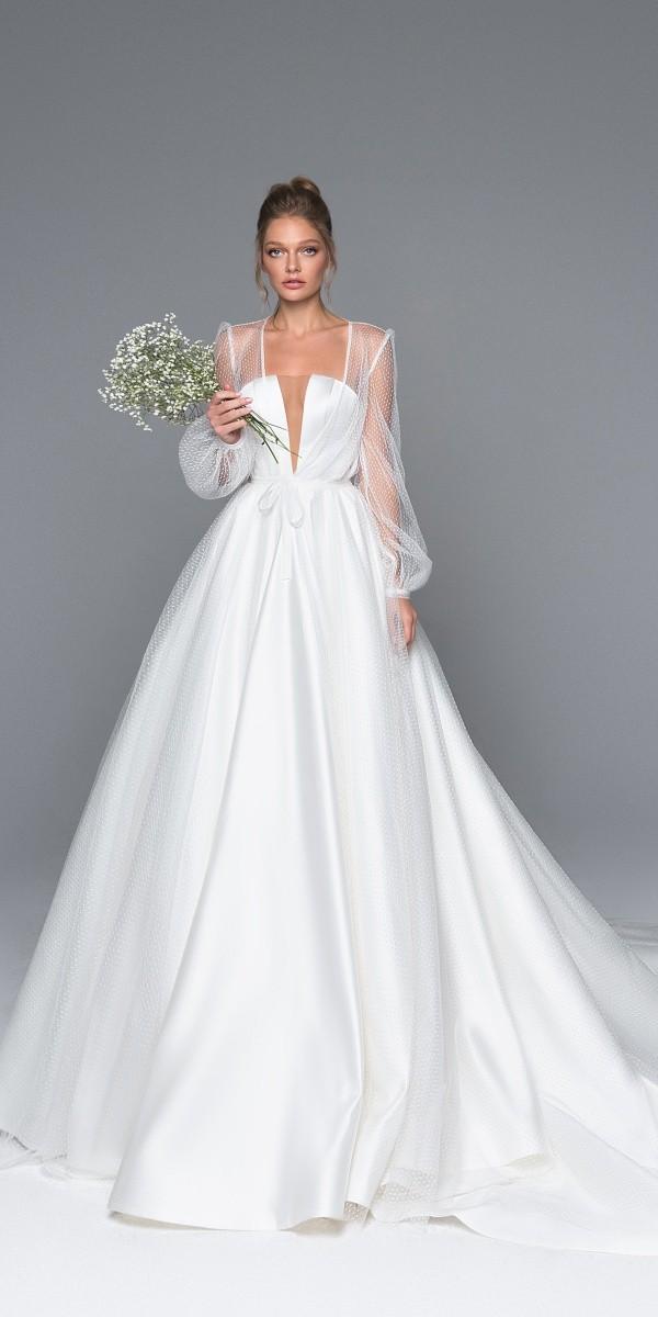 Eva Lendel elegant simple wedding dresses aria_2