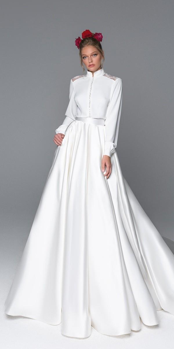 Eva Lendel elegant simple wedding dresses dominica