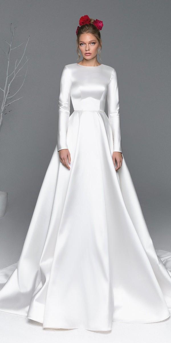 Eva Lendel elegant simple wedding dresses iris_2