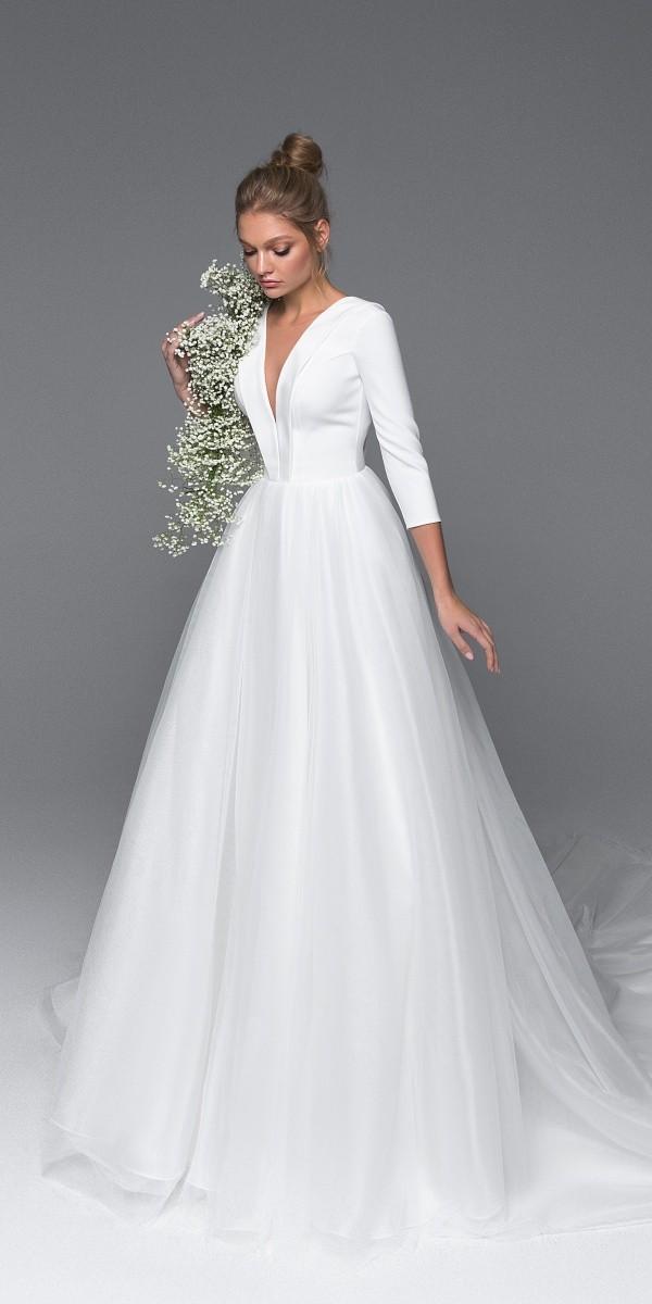 Eva Lendel elegant simple wedding dresses lory_4