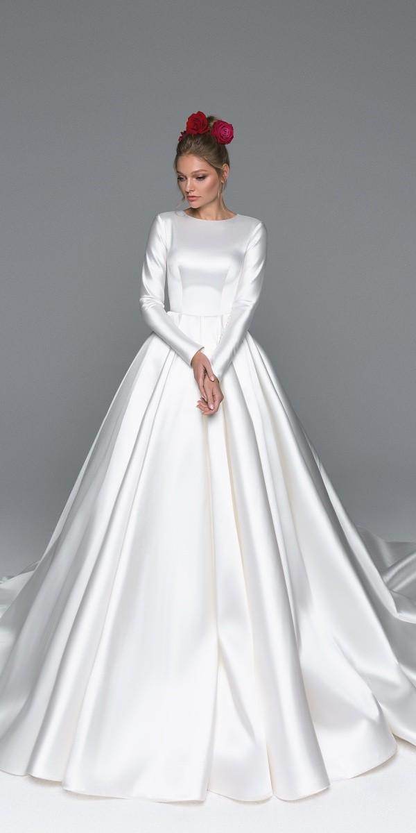 Eva Lendel elegant simple wedding dresses rafaella