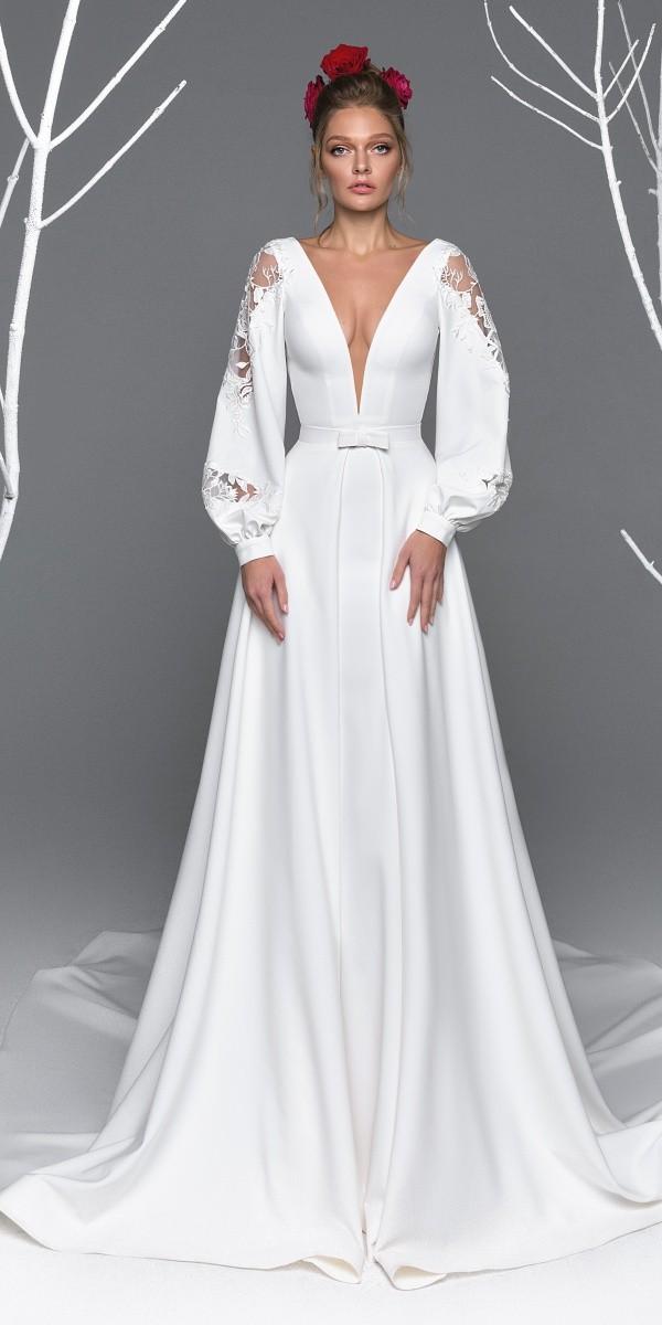 Eva Lendel elegant simple wedding dresses reychel