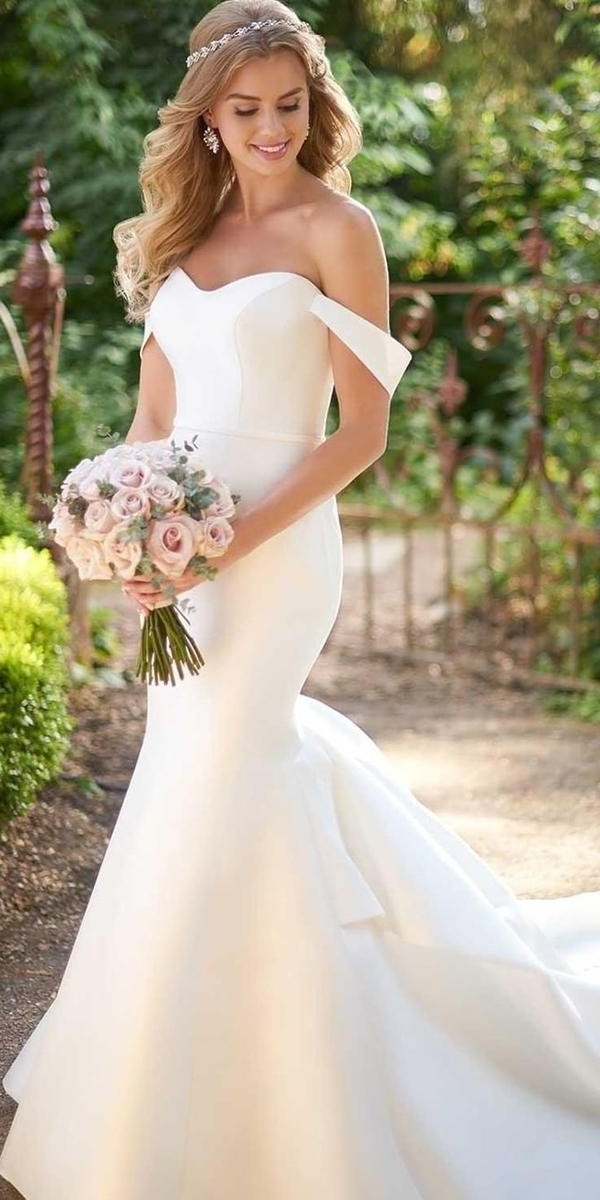 mermaid wedding dresses sweetheart neckline straples simple off the shoulder martinalianabridal