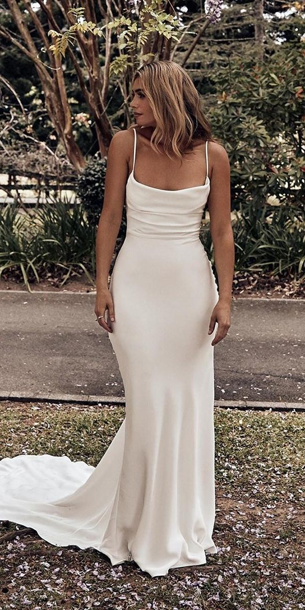 rustic wedding dresses sheath with spaghetti straps simple country grace loves lace