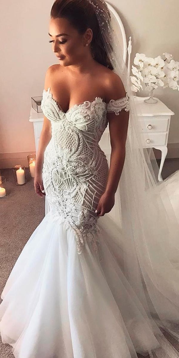 sweetheart wedding dresses mermaid off the shoulder lace georgeelsissa
