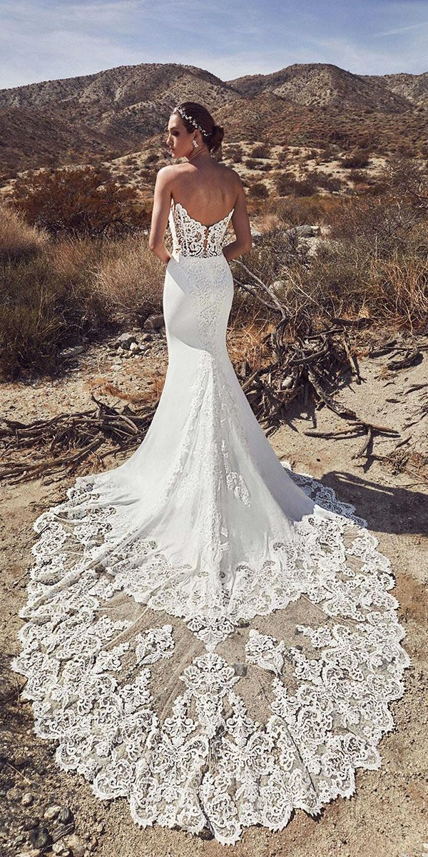 trumpet wedding dresses lov back lace with train callablanche