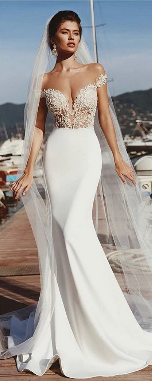 vierobridal off the shoulder mermaid wedding dresses