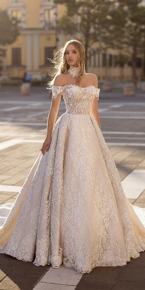 wona wedding dresses princess strapless neckline off the shoulder floral unicue