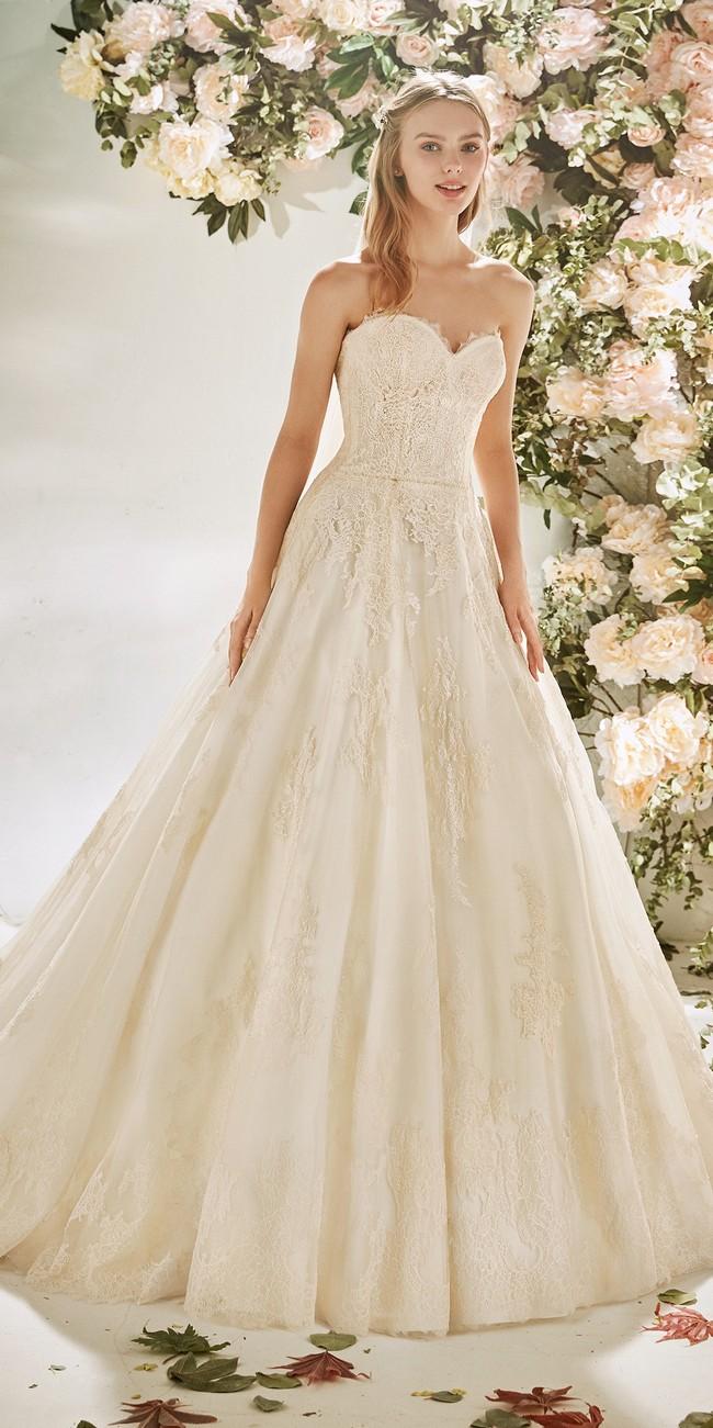 a line wedding dress sweetheart neckline open back camellia