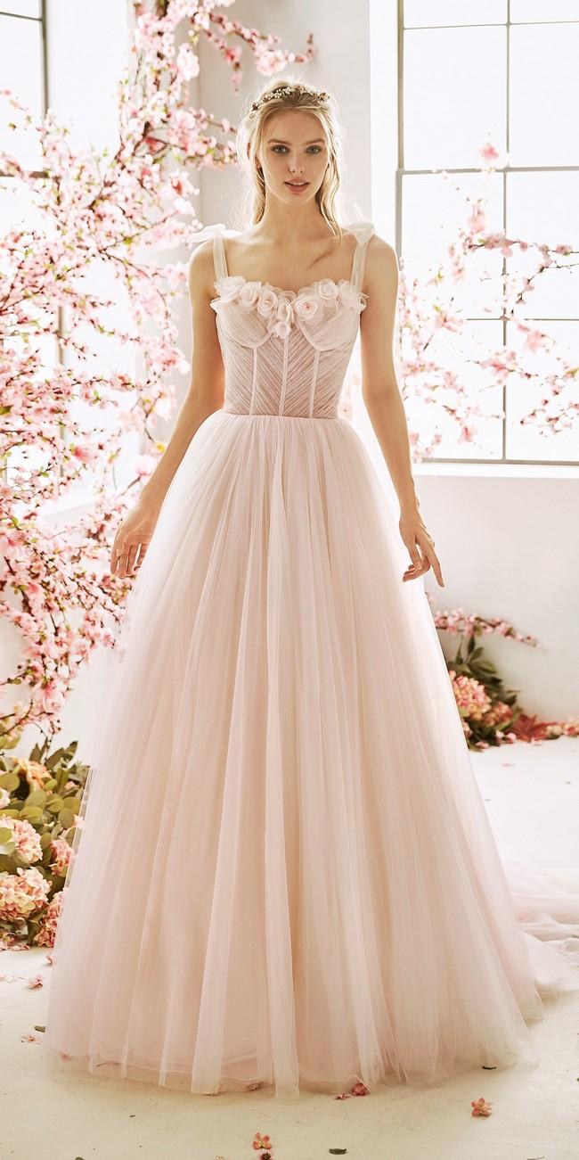 evase wedding dress square neckline cedar
