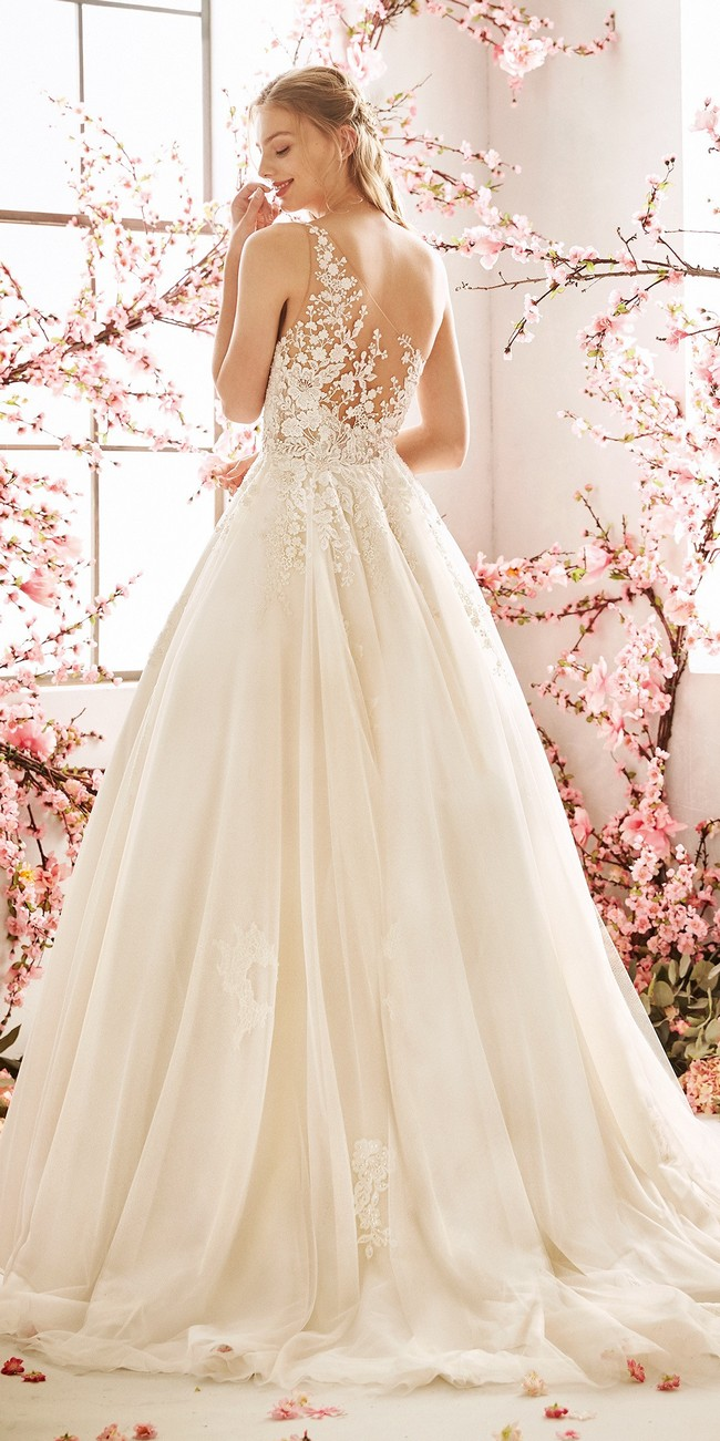 princess wedding dress tattoo effect back embroidered tulle aster2