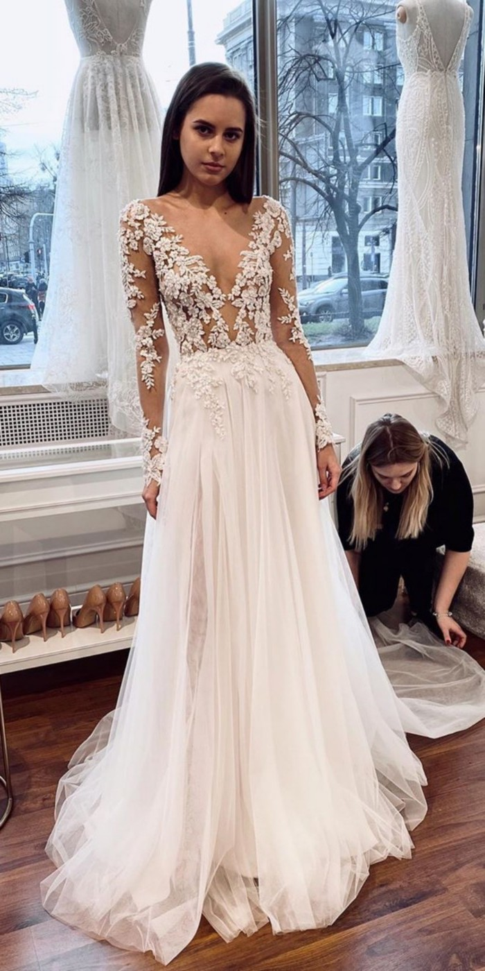 Lace Wedding Dresses from omsebastien_official  #wedding #dresses #weddingdresses #weddingideas #bridaldresses