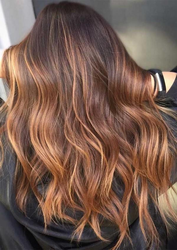 hair color summer #haircolor #brownhair #hairstyles best hair colors, balayage hair, ombre hair colors, blonde hair, hair color younger, hair color ideas, hair color with highlights, medium brown hair