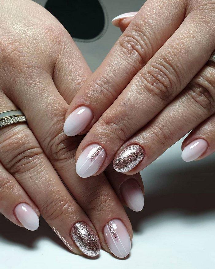 Pink White Wedding Nail Art Design Ideas #wedding #nails #weddingideas #weddingnails